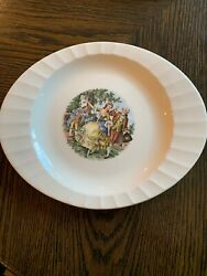 """Vintage Cronin China Company Platter 9.5"""" X12"""" Dancing Colonial Couple"""