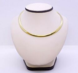 16 14k Solid Yellow Gold 6mm Heavy Polished Omega Chain Collar Necklace Italy