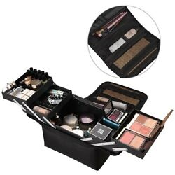 Extra Large Oxford Storage Beauty Makeup Nail Salon Cosmetic Travel Case Black $24.90