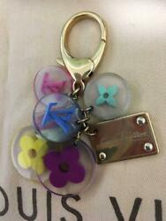 AUTH LOUIS VUITTON BAG CHARM Key Holder Monogram Flower colorful From Japan