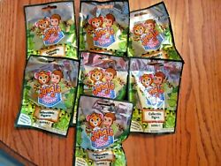 JUNGLE IN MY POCKET~SERIES 2~LOT OF 7 BLIND BAGS~NEW in pkg