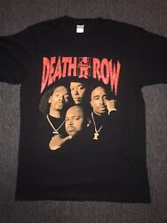 Death Row Rap Tee Vintage Snoop Dogg Dr Dre Suge Knight 2 Pac 90andrsquos Xl