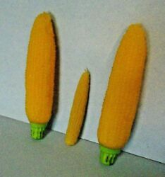 Set Of 3 Yellow Corn Fall-harvest-thanksgiving Candles