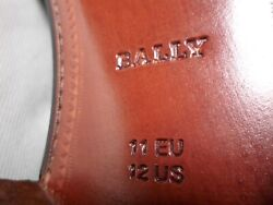 New Black Genuine Croc. Bally Bardello Extra Wide Shoes, Size 12