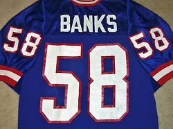 Vtg Authentic 90's Carl Banks New York Giants Nfl Russell Jersey 44 Original