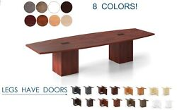 12 Ft Foot Conference Table With Grommets For Power And Legs With Doors 8 Colors