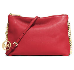 Michael Kors Jet Set Chain Top zip Messenger in Chili Red *Non Outlet* $127.20