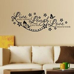 Live Laugh And Love Family Removable Bedroom Art Mural Vinyl Wall Sticker