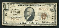 1929 10 The Rushville National Bank Rushville, In National Currency Ch. 1456