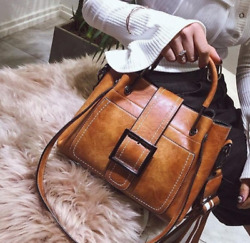 Women Vintage Handbag Shoulder Bags Tote Leather Boho Crossbody Purse Satchel
