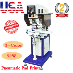 USA 110V/220V 50W 2-Color Pneumatic Pad Printer with Sealed Ink Cup and Shuttle