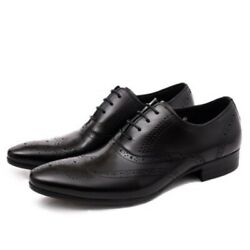 News Mens Carving Hollow Out Block Lace Up Business Formal Oxfords Shoes Fahsion
