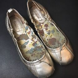 Sperry Sperrys Top Sider Gold Ballet Flats Slip On Shoes Womens Ladies Size 7
