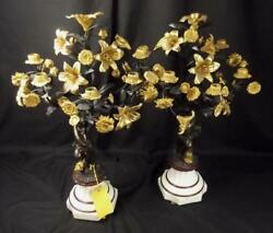 Fine Pair Of Circa 1880 French Cast Bronze And Ormlou Candelabra Ex Harrods