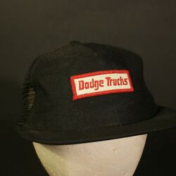 Dodge Trucks Patch Trucker Hat Cap Mesh Snapback Hipster Retro Black USA Made