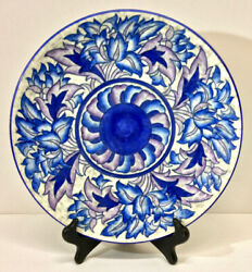 Charlotte Rhead A.g. Richardson Crown Ducal Blue Peony Charger, 4016, C. 1930s