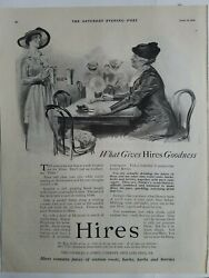 1919 Hires Root Beer Rootbeer Soda Drink What Gives Goodness Vintage Ad