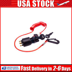 Oem Ignition Key Switch W/ Lanyard Kit 5005801 175974 For Johnson Outboard Motor
