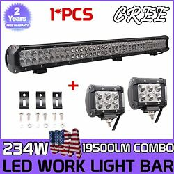 36inch 234w Led Work Light Bar Combo Offroad Ford Car Boat Truck Suv+2x18w Pods