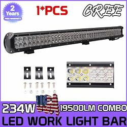 36inch 234w Led Light Bar Offroad Combo Fog Driving Lamp 4x4wd For Jeep Suv 37
