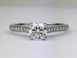 Hearts On Fire Illustrious 18k White Gold Diamond Engagement Ring 0.70 Ags H Si1