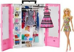 Mattel Barbie Fashionistas: Ultimate Closet With Doll Blonde New Toy Pape