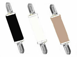 *DRESS CLIPS - SET OF 3 - BLACK..WHITE..TAN with GOLD or SILVER CLIPS - CINCH