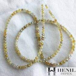 25+ Carat Natural Diamond Double Drilled Faceted Loose Diamond Beads 16 Strand