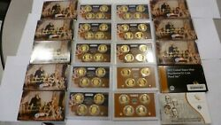 Lot Of 10 Us Mint Presidential 1 4-coin Proof Sets 2007- 2015