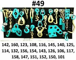 Set49 Auto Body Frame Machine Heavy Duty 22 Piece Pulling Tools And Clamps Set