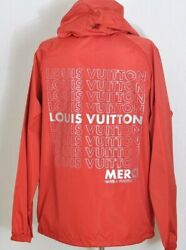 LOUIS VUITTON List Graphic Anorac Red 1A472V Jacket Size 44 Auth ak064 NEW