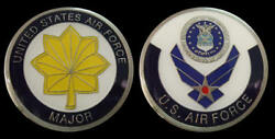 Us Air Force Major Rank Challenge Coin Military Collectible Coins