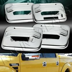Mirror Chrome Door Handle Cover Caps Keypad Hole 8-pcs Fit 04-14 Ford F150 F-150
