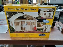 New In Box Authentic Breyer 2 Stall Run In Wood Barn Made Of Real Wood