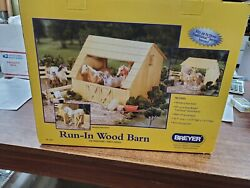 New in box Authentic Breyer run in wood barn Made of real wood