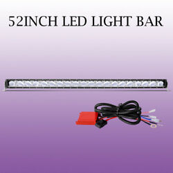52INCH LED Work Light Bar DRL Driving Fog Lamps w Wiring Harness Remote Control
