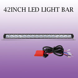 42INCH LED Work Light Bar DRL Driving Fog Lamps w Wiring Harness Remote Control