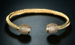 Vintage Women's 18k Yellow Gold Over Open Cuff 7.5