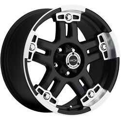 17x8.5 Black Warlord  5x4.5 -12 Rims Extreme Country 37X12.50R17LT Tires