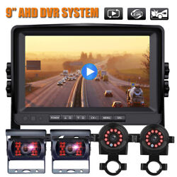 Digital Wireless Dual Backup Camera 7 Monitor Rear View System For Truck Bus Rv