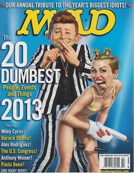 Mad Magazine 525 February 2014 Miley Cyrus The 20 Dumbest People Events 2013