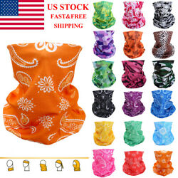 Head Face Mask Neck Gaiter Tube Bandana Scarf Beanie Cap For Dust Outdoor Sports