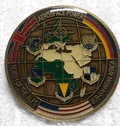 Authentic 3rd Air Force Usafe Aerospace Power Alps To Sahara Rare Challenge Coin