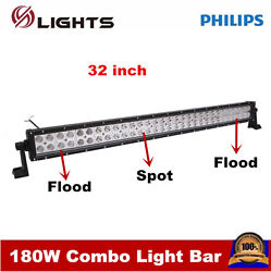 32inch 180w Philips Led Work Light Bar Combo Driving Atv Ute Suv Bar Offroad 4wd