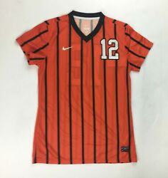 New Nike Women's M Authentic Syracuse Team Id S/s Game Jersey Soccer Orange 12
