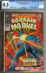 Marvel Super-heroes 13 Cgc 8.5 Ow/wh Pages // 1st Appearance Carol Danvers