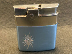 Old Vtg Collectible Ronson Mini-rover Mcm Classy Cigarette Lighter Made In Usa