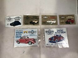 Lot Of Vtg Plaques From Specialty Car Club, Reading, Pa Spring Auto Shows Unused