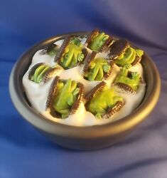 DAVID GILHOOLY art PERFECT BREAKFAST CEREAL ceramic SIGNED frog food EXCELLENT!