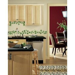 14 New PAINTERLY IVY Wall Decals Kitchen LEAVES VINES Room Home Decor Stickers
